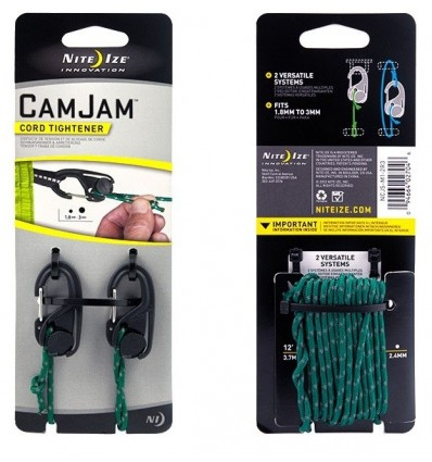 Nite Ize - Karabinki do napinania z linką - CamJam Small Cord Tightener - 2Pack - NCJS-M1-2R3