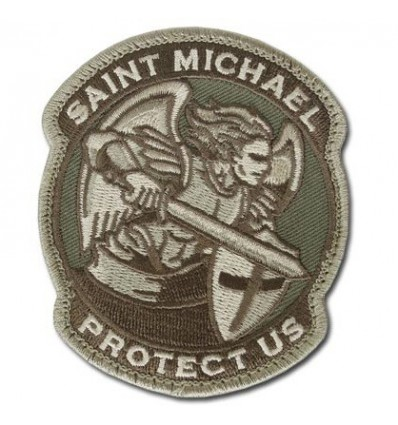 MIL-SPEC MONKEY - Naszywka Saint Michael Protect Us - Saint-M Modern - Multicam
