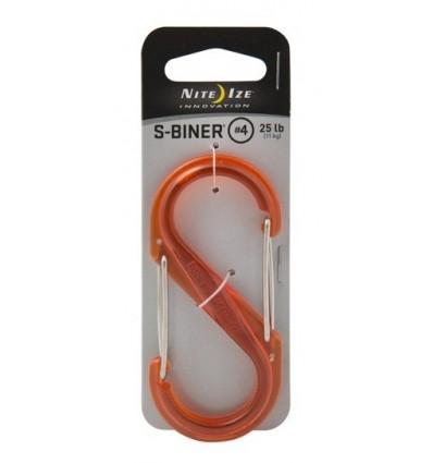 Nite Ize - S-Biner '4 Plastic - Translucent Orange - SBP4-03-19T