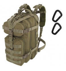 CAMO - Plecak ASSAULT Backpack - 25Litrów - Coyote Brown - PL-AS-BP-CY