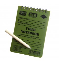 BCB - Notes wodoodporny z ołówkiem - Field Notebook With Pencil - Zielony OD - CD446