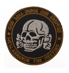 Patch - Naszywka God Will Judge Our Enemies SKULL - Rzep