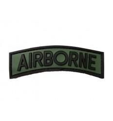 101 Inc. - Naszywka Airborne Tab - 3D PVC - Zielony Olive