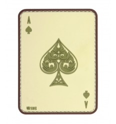 101 Inc. - Naszywa Ace of Spades - 3D PVC - Coyote