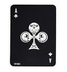 101 Inc. - Naszywa Ace of Clubs - 3D PVC - Czarny