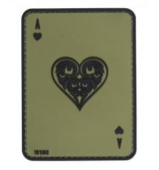 101 Inc. - Naszywa Ace of Hearts - 3D PVC - Zielony