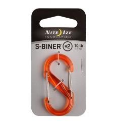 Nite Ize - Karabinek S-Biner '2 Plastic - Translucent Orange - SBP2-03-19T