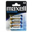 Maxell - Bateria alkaliczna AA R6 1,5V - Zestaw 4 sztuk