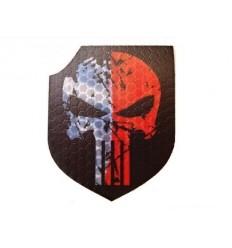 Combat-ID - Naszywka Punisher - Biało/Czerwony - Gen I