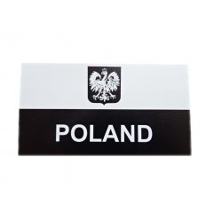 Combat-ID - Naszywka Polska Herb - JWK Lubliniec - Duża z napisem - Gen II A1 - Biały/Czarny - NIR