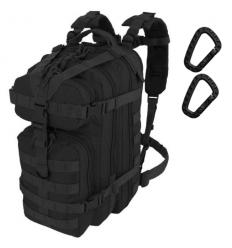 CAMO - Plecak ASSAULT Backpack - 25Litrów - Czarny - PL-AS-BP-BL