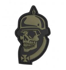 101 Inc. - Naszywka 1914 Soldier Skull - 3D PVC - Zielony