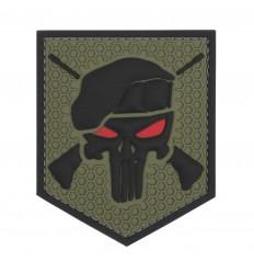 101 Inc. - Naszywka Commando Punisher - 3D PVC - Zielony