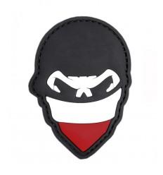 101 Inc. - Naszywka Polish Skull Balaclava - 3D PVC - Kolor