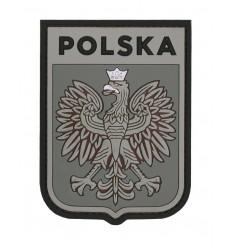 101 Inc. - Naszywka Polska Godło /wer. pilota - 3D PVC - Szary