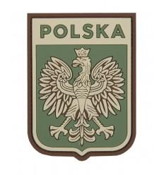 101 Inc. - Naszywka Polska Godło /wer. pilota - 3D PVC - Zielony