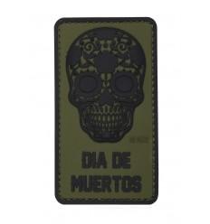 101 Inc. - Naszywka Dia De Muertos /Dzień Umarłych/ - 3D PVC - Zielony