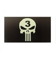 KAMPFHUND - Naszywka Punisher Seal Team 3 - Czarny - Gen III