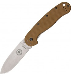 Esee - Avispa Coyote Brown Nylon Handle Satin D2 Steel - BRK1302CB - Nóż składany