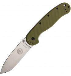 Esee - Avispa Olive Nylon Handle Satin D2 Steel - BRK1302OD - Nóż składany