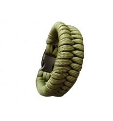MALAMUT - Bransoletka surwiwalowa MAMBA - Paracord 550 USA - Zielony Olive