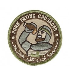 MIL-SPEC MONKEY - Naszywka Pork Eating Crusader - Multicam