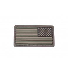 MIL-SPEC MONKEY - Naszywka US Flag Mini Reversed - PVC - Forest