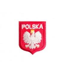 Mtac - Naszywka Godło Polski z napisem - Orzeł Biały w Koronie - Mała