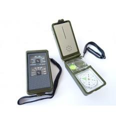 Kompas wielofunkcyjny / survivalowy MIL-TEC krzesiwo gwizdek linijka latarka ...