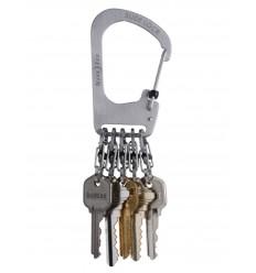 Nite Ize - Brelok do kluczy z karabinkami - SlideLock KeyRack - Stalowy - KCK-11-R3