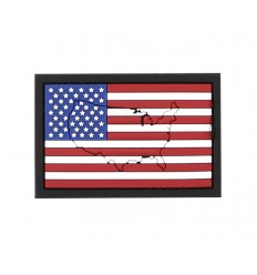 101 Inc. - Naszywka Flaga USA / US Flag with contour - 3D PVC