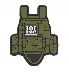 101 Inc. - Naszywka Tactical Vest - 3D PVC - Zielony