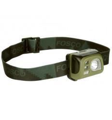 Fosco - Latarka czołowa Tactical Headlamp - 140 Lumenów - Zielony