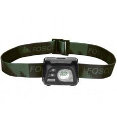 Fosco - Latarka czołowa Tactical Headlamp - 140 Lumenów - Czarny