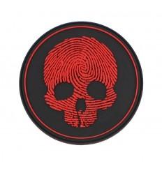 101 inc. - Naszywka Fingerprint Skull - 3D PVC - Czerwony