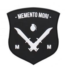 101 Inc. - Naszywka MEMENTO MORI SHIELD DAGGER - 3D PVC - SWAT