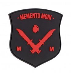 101 Inc. - Naszywka MEMENTO MORI SHIELD DAGGER - 3D PVC - Czerwony