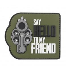 101 Inc. - Naszywka SAY HELLO TO MY FRIEND - 3D PVC - Zielony