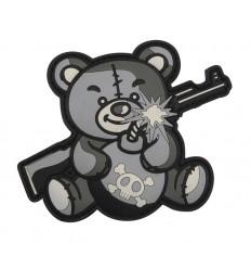 101 Inc. - Naszywka Terror Teddy - 3D PVC - Szary