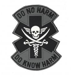 101 Inc. - Naszywka DO NO HARM - 3D PVC - Szary