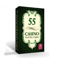 Cartamundi - Karty do gry CASINO 55 - Rewers zielona - 55 kart