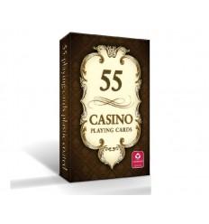 Cartamundi - Karty do gry CASINO 55 - Rewers brązowy - 55 kart