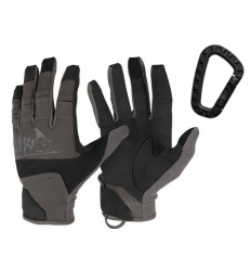 Helikon - Rękawice taktyczne Range Tactical Gloves Hard - Czarny / Shadow Grey - RK-RNG-PO-0135A
