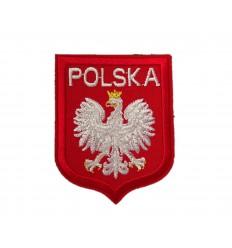 Naszywka Godło Polski - Orzeł Biały w Koronie /g2