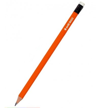 Zenith - Ołówek grafitowy BASIC trójkątny - HB - Pomarańczowy