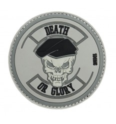 Patch - Naszywka DEATH OR GLORY - 3D PVC - Grey