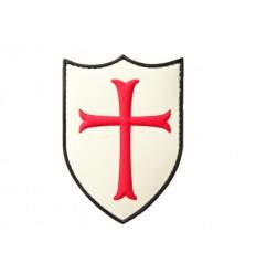101 Inc. - Naszywka CRUSADER TEMPLAR - Krzyżowiec Templariusz - 3D PCV - Biały