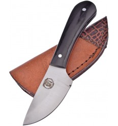 Frost Cutlery - Nóż Chipaway Skinner - Buffalo Horn Handle - Leather Sheath - CW-1007BH