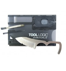 Tool Logic - Karta wielofunkcyjna / Multitool - Survival Card II Charcoal - SVC2