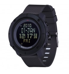 NORTH EDGE - Zegarek TANK Digital Watch - Czarny pasek
